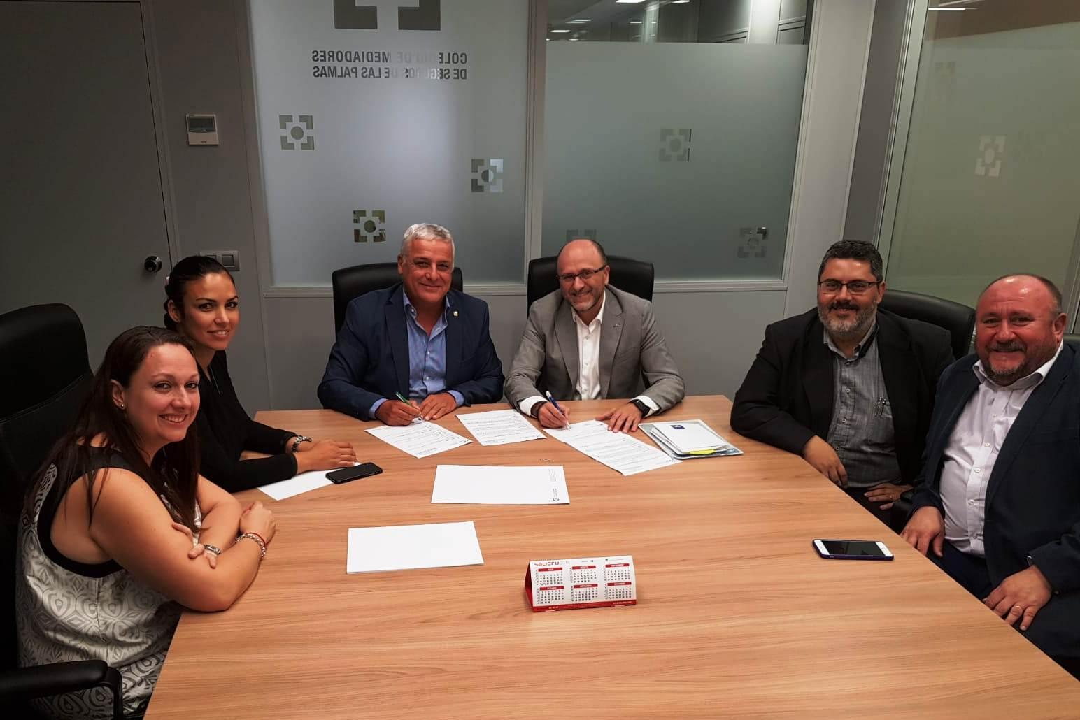 Renovación de Protocolo de Colaboración entre AXA y el Colegio de Mediadores de Seguros de Las Palmas.